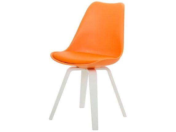 designer stuhl ella gina beine wei 2er set orange msp furniture. Black Bedroom Furniture Sets. Home Design Ideas