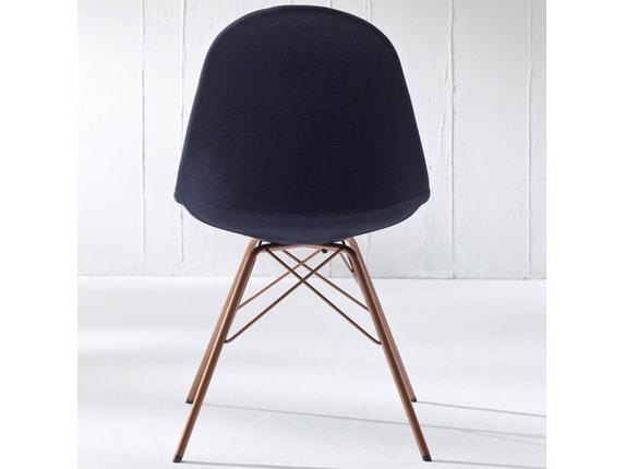 designer stuhl porgy donna beine kupfer 2er set schwarz. Black Bedroom Furniture Sets. Home Design Ideas