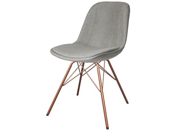 Designer Stühle designer stuhl porgy grace beine kupfer 2er set fabric hellgrau