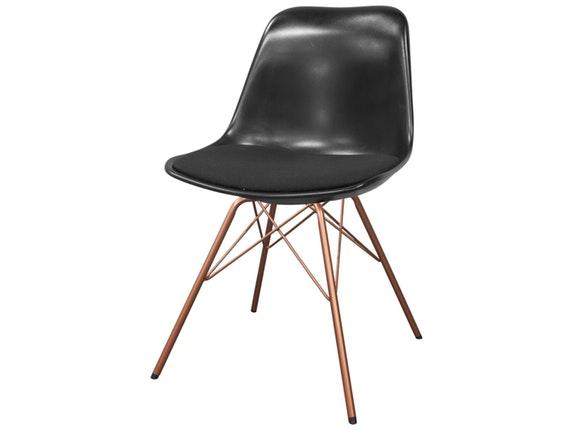 designer stuhl porgy grace beine kupfer 2er set schwarz fabric schwarz msp furniture. Black Bedroom Furniture Sets. Home Design Ideas