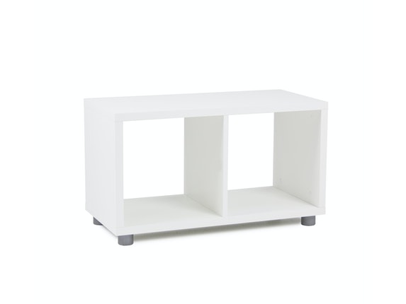 msp furniture Regal Box Cube 1x2 weiß Melamin n-8780-6587 - 1