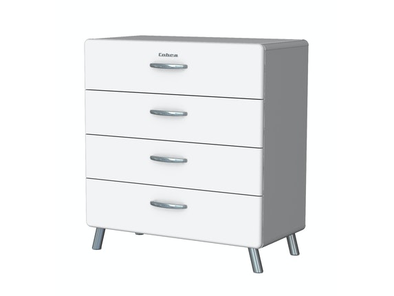 msp furniture Kommode Cobra 86 mit 4 Schubladen weiß n-8793-6663 - 1
