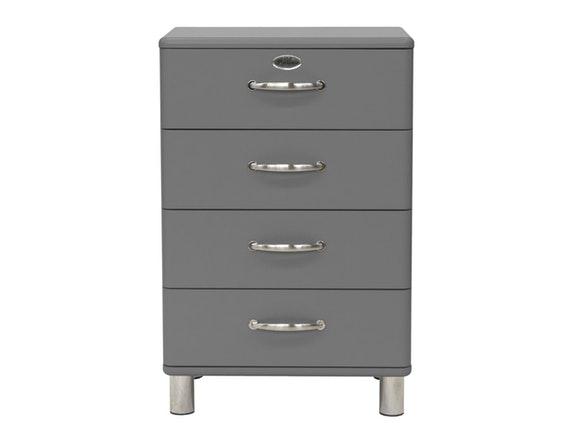 Kommode Malibu 60 Mit 4 Schubladen Hellgrau Msp Furniture