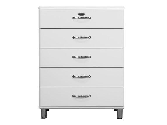 kommode malibu 86 mit 5 schubladen wei msp furniture. Black Bedroom Furniture Sets. Home Design Ideas