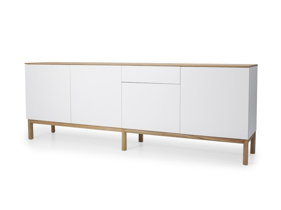 msp furniture Sideboard eiche/weiß/eiche Patch 4 Türen 1 Schublade n-8842-6876 - 1