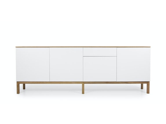msp furniture Sideboard eiche/weiß/eiche Patch 4 Türen 1 Schublade n-8842-6876 - 2