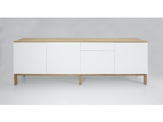 msp furniture Sideboard eiche/weiß/eiche Patch 4 Türen 1 Schublade n-8842-6876 - 3