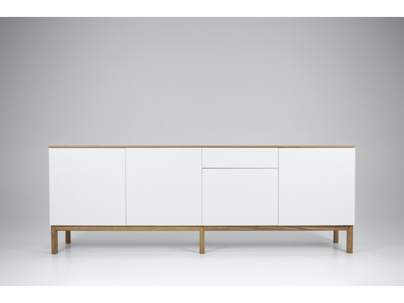 msp furniture Sideboard eiche/weiß/eiche Patch 4 Türen 1 Schublade n-8842-6876 - 4