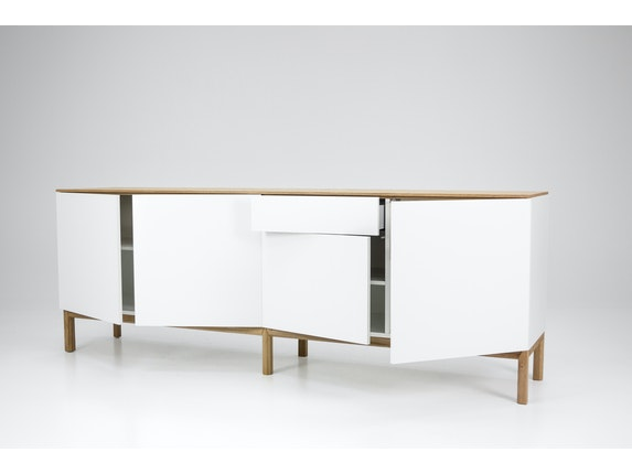 msp furniture Sideboard eiche/weiß/eiche Patch 4 Türen 1 Schublade n-8842-6876 - 5