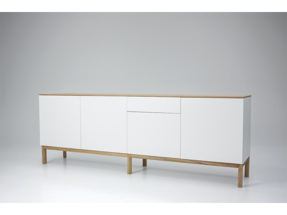 msp furniture Sideboard eiche/weiß/eiche Patch 4 Türen 1 Schublade n-8842-6876 - 6