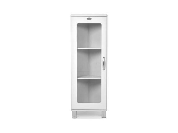 Eckschrank Malibu mit Glastür weiß » msp furniture – Salesfever.de