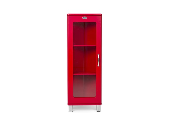 eckschrank malibu mit glast r rot msp furniture. Black Bedroom Furniture Sets. Home Design Ideas