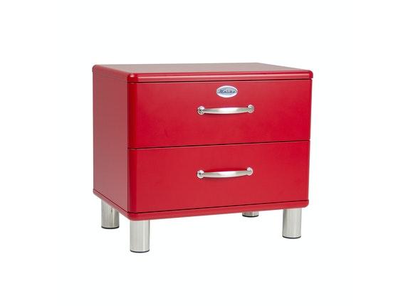 Nachttisch Rot nachttisch malibu mit 2 schubladen rot msp furniture salesfever de