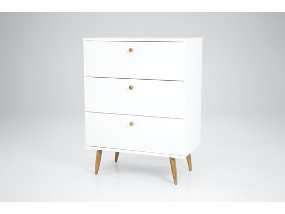 msp furniture Kommode weiß Haze mit 3 Schubladen n-8881-6948 - 2