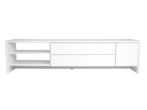 msp furniture TV weiß Board Profil 180 mit 2 Schubladen n-8890-6976 - 2