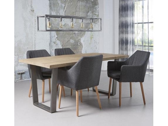 esstisch finn trapezgestell 180x90 cm antik wei msp furniture. Black Bedroom Furniture Sets. Home Design Ideas