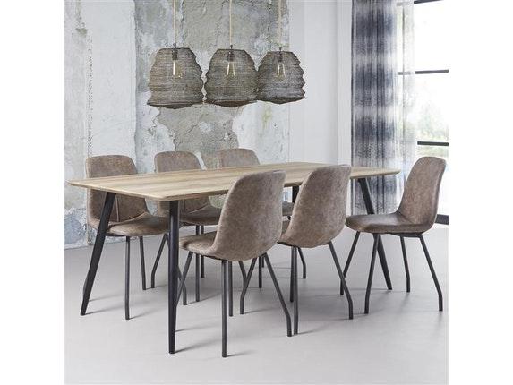 Msp Furniture Esszimmertisch Alexander Konische Beine 160x90 Cm N 9124 7161    2