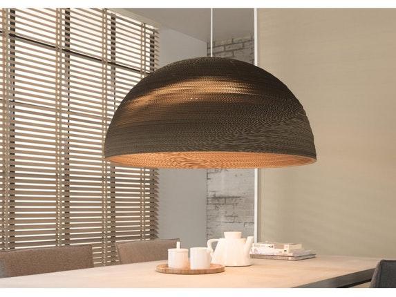 h ngeleuchte jana halbkugel gro 80 cm braun msp furniture. Black Bedroom Furniture Sets. Home Design Ideas