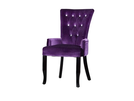 stuhl shezar mit armlehne lila interior home. Black Bedroom Furniture Sets. Home Design Ideas