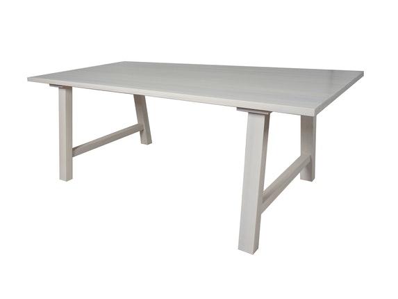 Esstisch weiß holz  Esstisch massivholz weiß 200 x 100 cm gebeizt white wash » Salesfever.de
