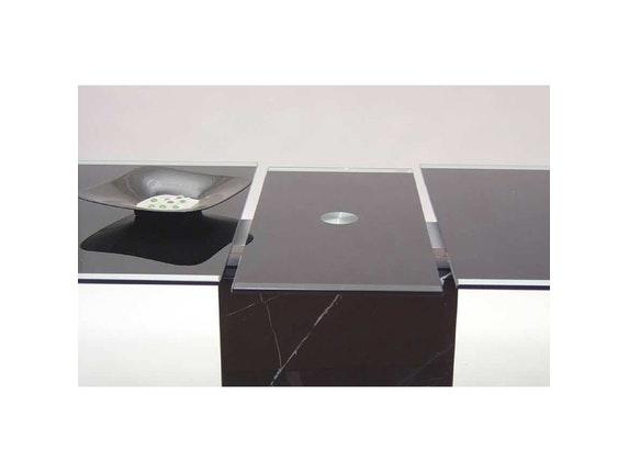 esstisch grazie ausziehbar schwarz glas synoun. Black Bedroom Furniture Sets. Home Design Ideas