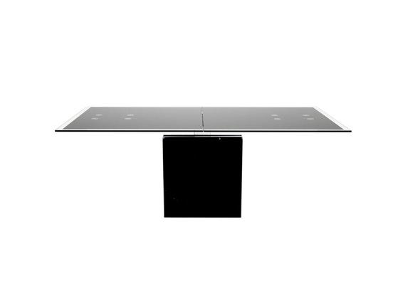 Esstisch rund ausziehbar schwarz  Esstisch Grazie ausziehbar schwarz Glas » Synoun – Salesfever.de