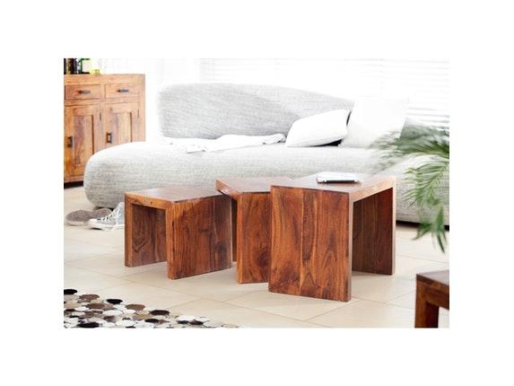 couchtisch 3 satz guru akazie honig wolf m bel. Black Bedroom Furniture Sets. Home Design Ideas