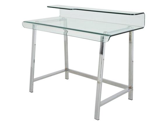 schreibtisch visible clear stahl glas kare design. Black Bedroom Furniture Sets. Home Design Ideas