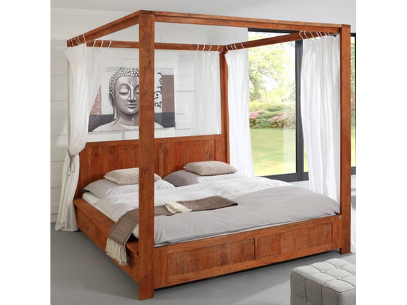 himmelbett guru mit stoff 180x200 cm wolf m bel. Black Bedroom Furniture Sets. Home Design Ideas