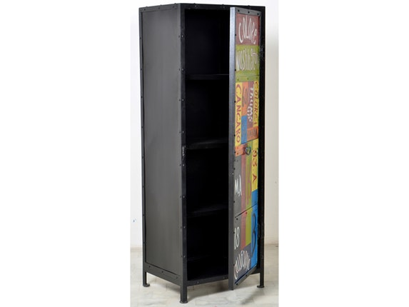 schrank neve metall bunt 1 t r sit m bel. Black Bedroom Furniture Sets. Home Design Ideas