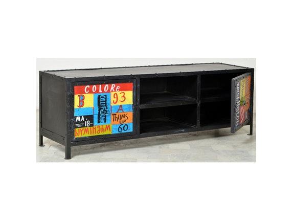 Möbel Bunt tv lowboard neve metall bunt 2 türen sit möbel salesfever de