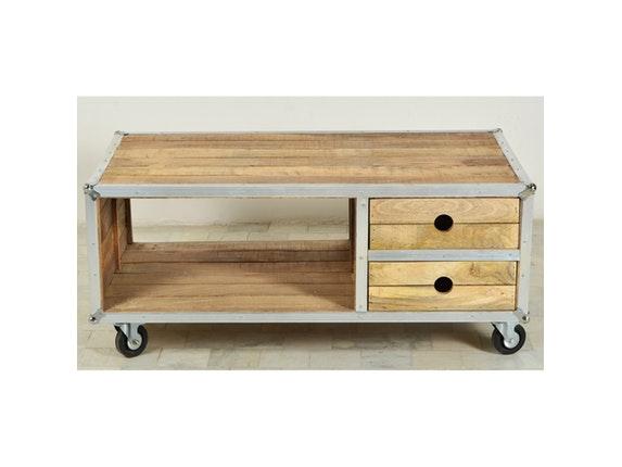 couchtisch rota auf rollen. Black Bedroom Furniture Sets. Home Design Ideas