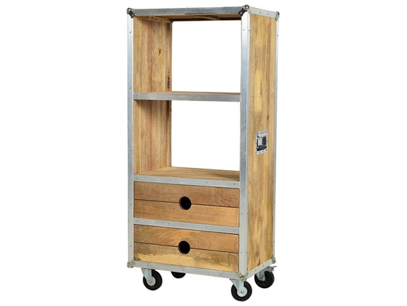 b cherregal rota klein auf rollen sit m bel. Black Bedroom Furniture Sets. Home Design Ideas