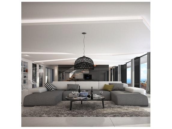 wohnlandschaft grau wei e r ckenlehne serlas innocent. Black Bedroom Furniture Sets. Home Design Ideas