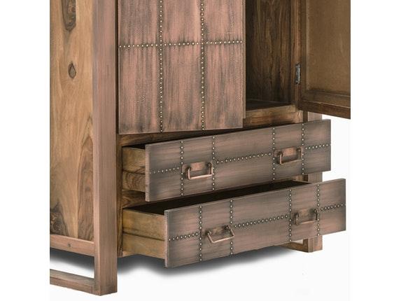 schrank akkon mit 2 t ren kupfer sit m bel. Black Bedroom Furniture Sets. Home Design Ideas