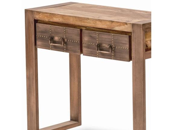 telefontisch akkon mit 2 schubladen kupfer sit m bel. Black Bedroom Furniture Sets. Home Design Ideas