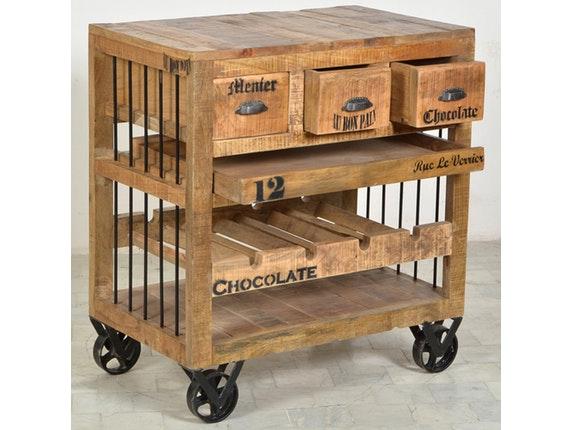 k chenwagen tosco flaschenablage rollen sit m bel. Black Bedroom Furniture Sets. Home Design Ideas