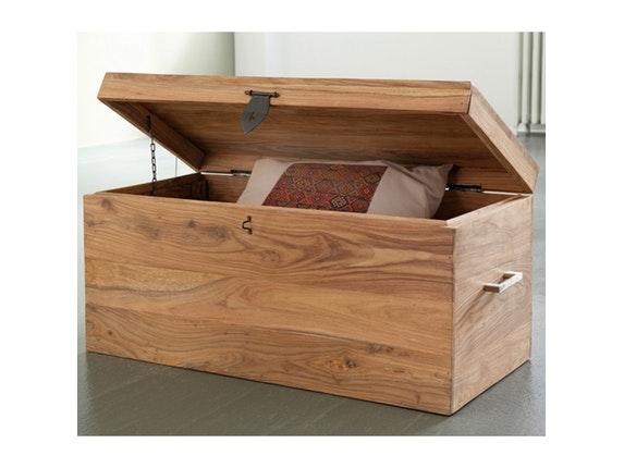 truhe yoga mit deckel 80x40 cm sheesham wolf m bel. Black Bedroom Furniture Sets. Home Design Ideas