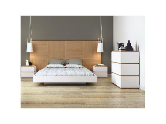 bett dusk mit sehr gro em kopfteil 160x200 cm temahome. Black Bedroom Furniture Sets. Home Design Ideas