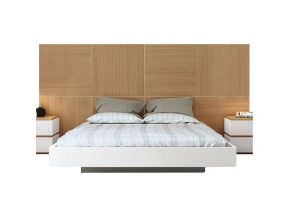 bett dusk mit sehr gro em kopfteil 180x200 cm temahome. Black Bedroom Furniture Sets. Home Design Ideas
