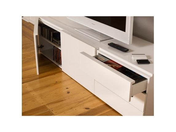 tv tisch glare mit 2 t ren 3 schubladen temahome. Black Bedroom Furniture Sets. Home Design Ideas