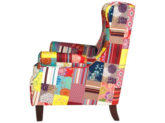 sessel racco patchwork samt sit m bel. Black Bedroom Furniture Sets. Home Design Ideas