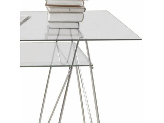 Schreibtisch polar mit 2 glasplatten kare design for Kare design tisch polar