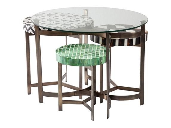 couchtisch musivo round 4er set mosaik kare design. Black Bedroom Furniture Sets. Home Design Ideas