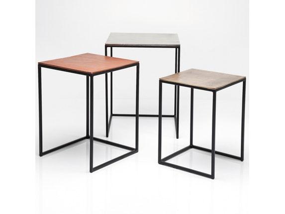Beistelltisch Set beistelltisch loft square vintage 3er set kare design salesfever de