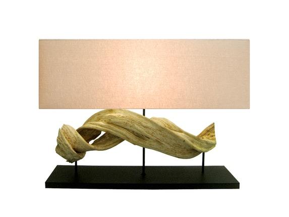 tischlampe figuvine mit linen schirm. Black Bedroom Furniture Sets. Home Design Ideas
