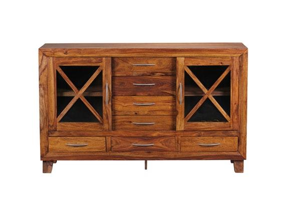 sideboard nativa mit 2 glast ren salesfever. Black Bedroom Furniture Sets. Home Design Ideas