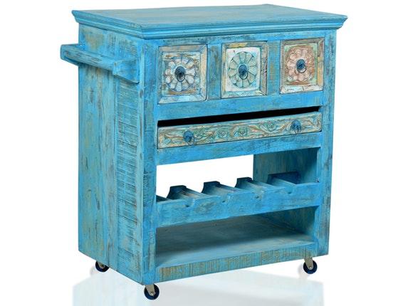 k chenwagen blue mit 3 schubladen sit m bel. Black Bedroom Furniture Sets. Home Design Ideas