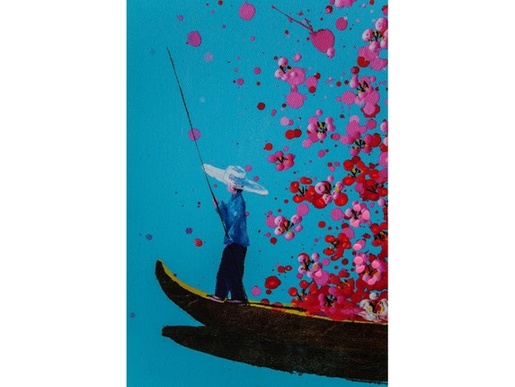 KARE Design Bild Touched Flower Boat 160x120cm n-7245 - 4