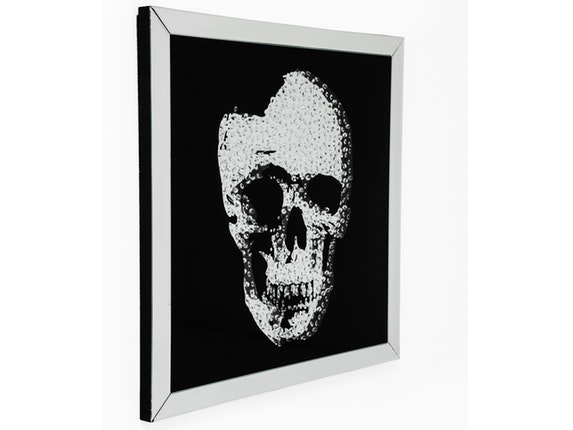 bild frame mirror skull 100x100cm kare design. Black Bedroom Furniture Sets. Home Design Ideas